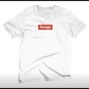 Savage White Tee